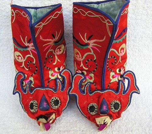 20: An Antique Chinese Silk Shoes