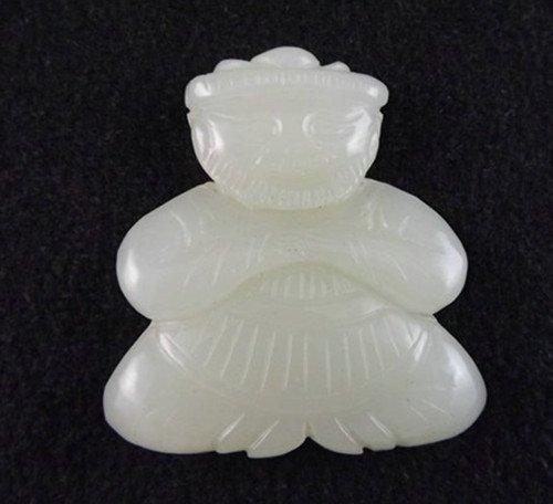 15: An Antique White Jade Figure