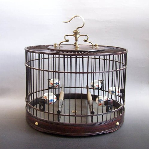 93: An Old Chinese Rosewood Bird Cage