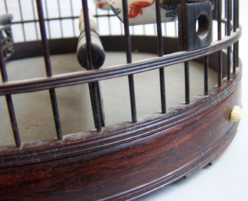 93: An Old Chinese Rosewood Bird Cage - 2