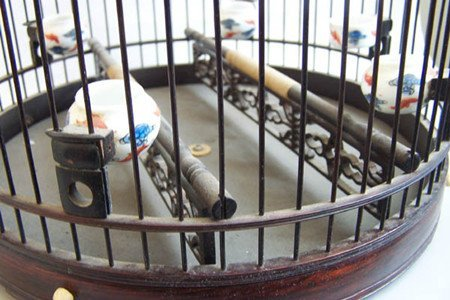 93: An Old Chinese Rosewood Bird Cage - 3