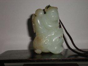 A Fine White Jade Carved Pendant