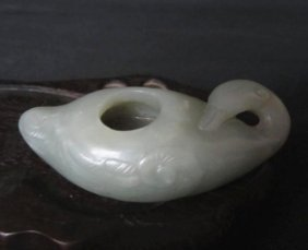 A Fine White Jade Water Pot