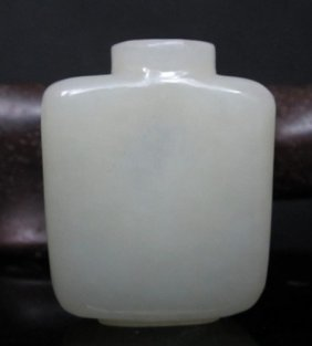 A Fine White Jade Snuff Bottle