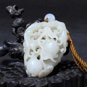 A Fine White Jade Pendant