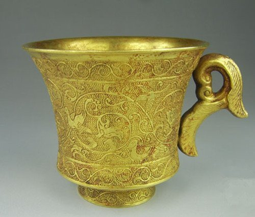 A Rare Tang Dynasty Gilt Cup