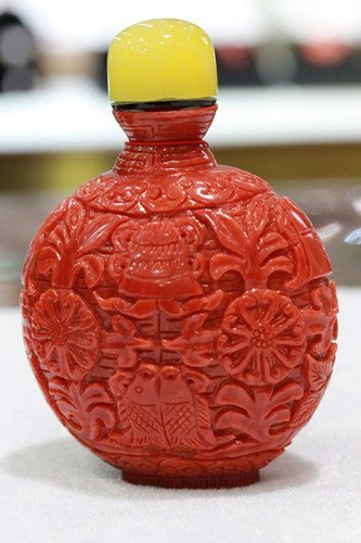 A Red Coral Snuff Bottle