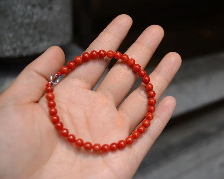 Natural Red Coral Bracelet