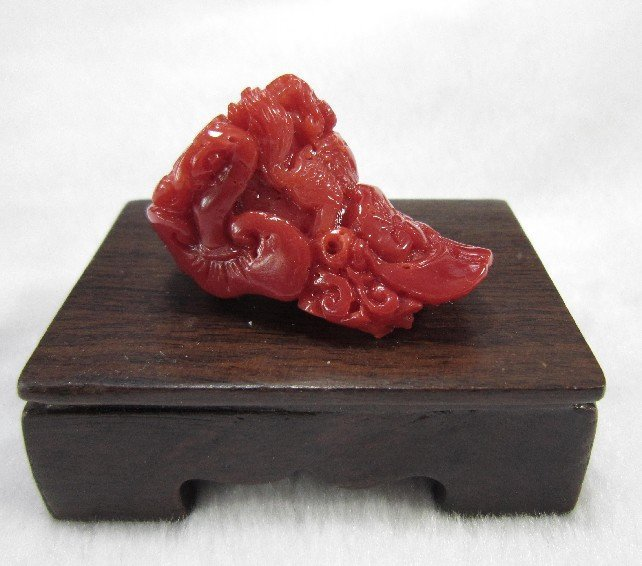 Natural Red Coral Carving