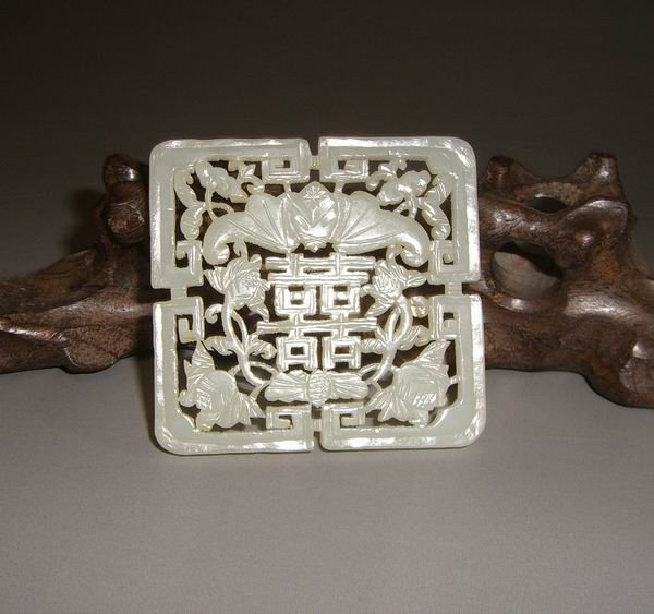 An Old White Jade Plauqe