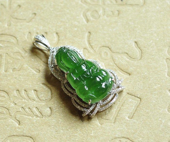 A 18K Diamond Jadeite Pendant