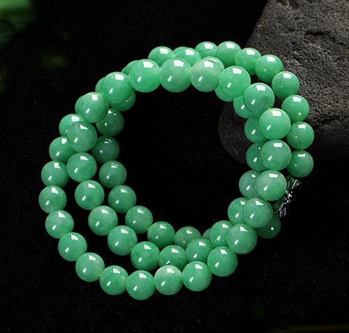 Full Green Natural Jadeite Necklace