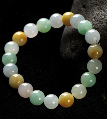 Natural Jadeite Bead Bracelet