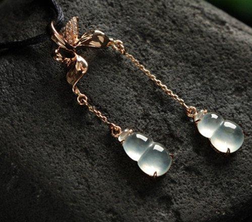 18K Diamond Natural Jadeite Earring