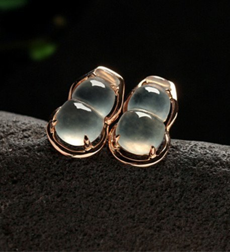 18K Natural Jadeite Earring