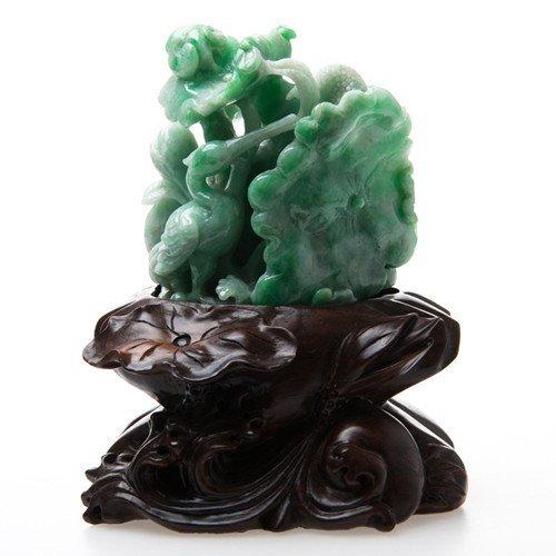 A Fine Natural Jadeite Carving