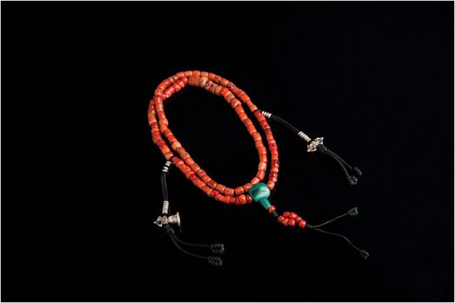 Old Tibetan Red Coral Necklace