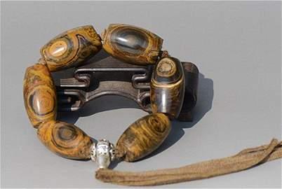Rare Old Tibetan Bead Bracelet