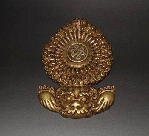 Old Tibetan Bronze Cast Amulet Pendant