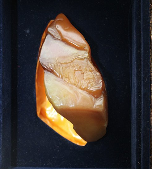 Rare Vintage Yellow Soapstone Tianhuang Carved Stone - 6