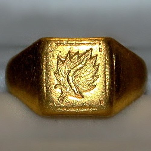 Fine Old Chinese 24K Gold Ring