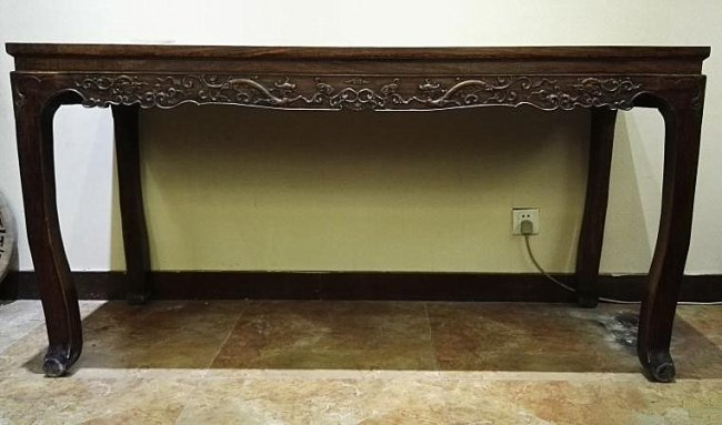 Fine Antique Chinese Huanghuali Wood Console Table