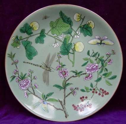 Fine Old Chinese Famille Rose Plate