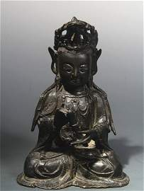 Chinese Ming Dynasty bronze Guanyin Statue