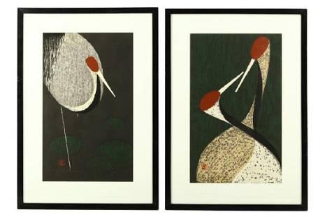 KAORU KAWANO (1916 – 1965). Four framed Japanese