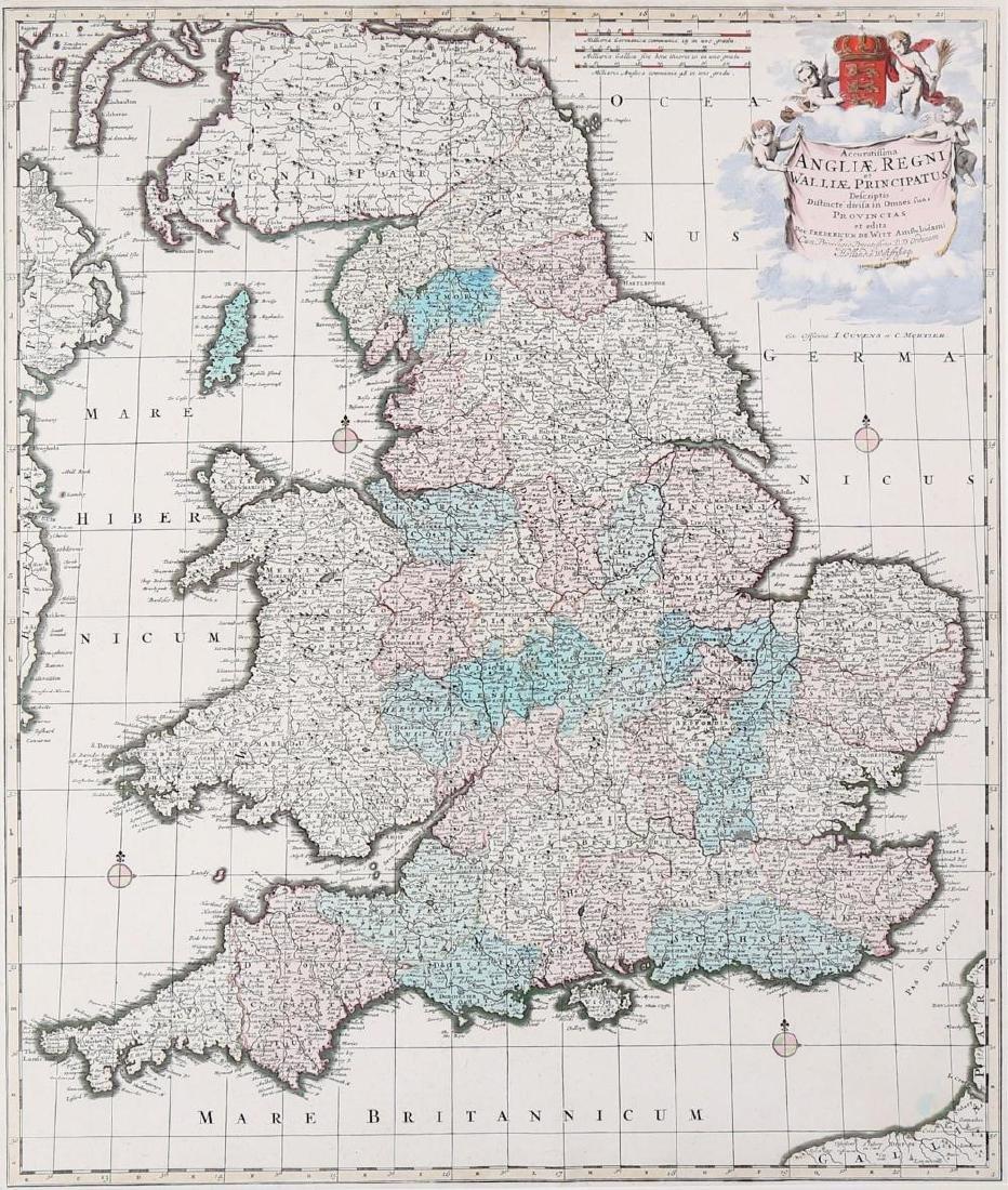 Drayton (Michael) Hartfordshyre, engraved map, to