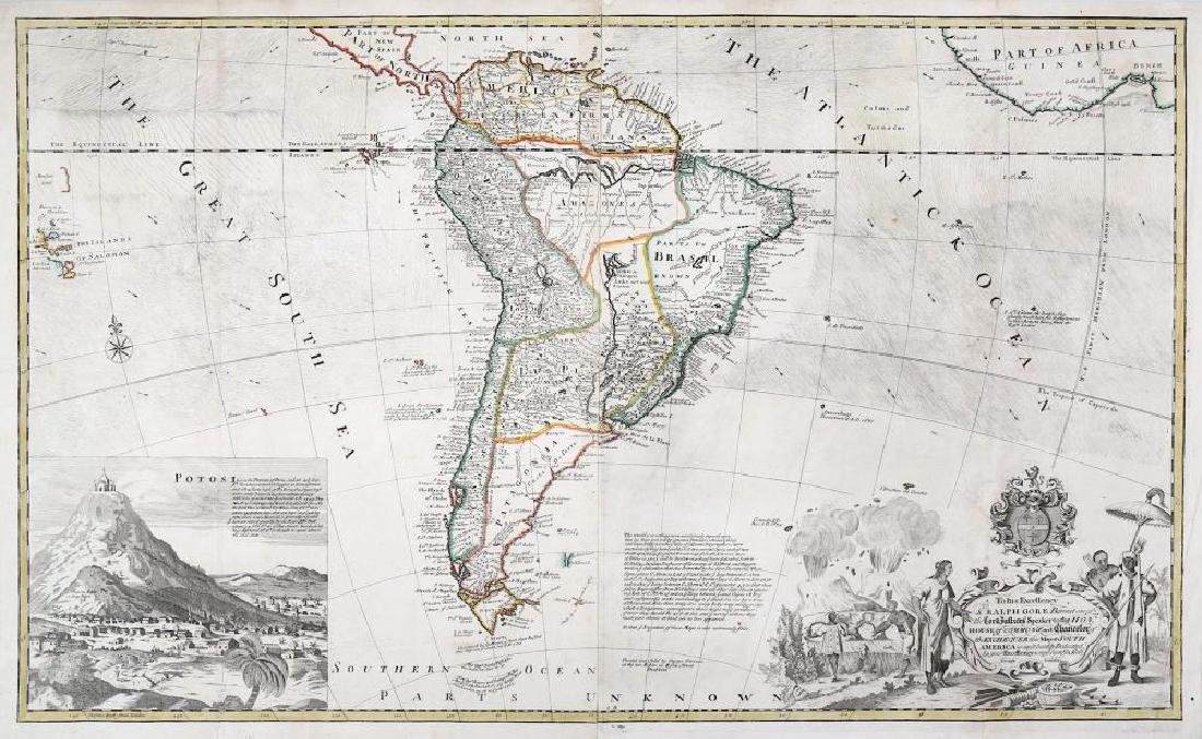 Moll (Herman) Map of South America, copper engraved