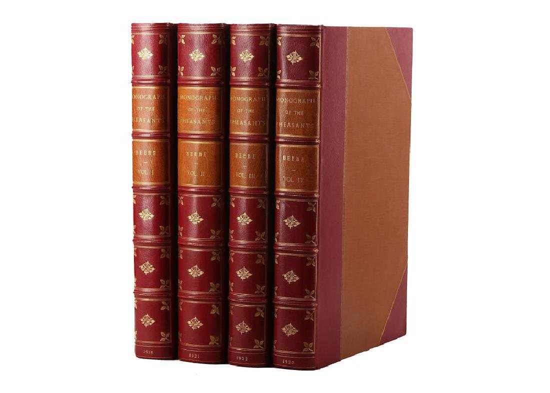 Beebe (William) A Monograph of the Pheasants, 4 vol.,
