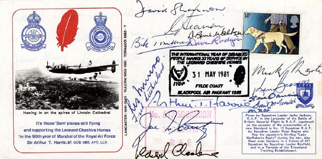 WW2.-Dambusters Flown cover commemorating R.A.F.