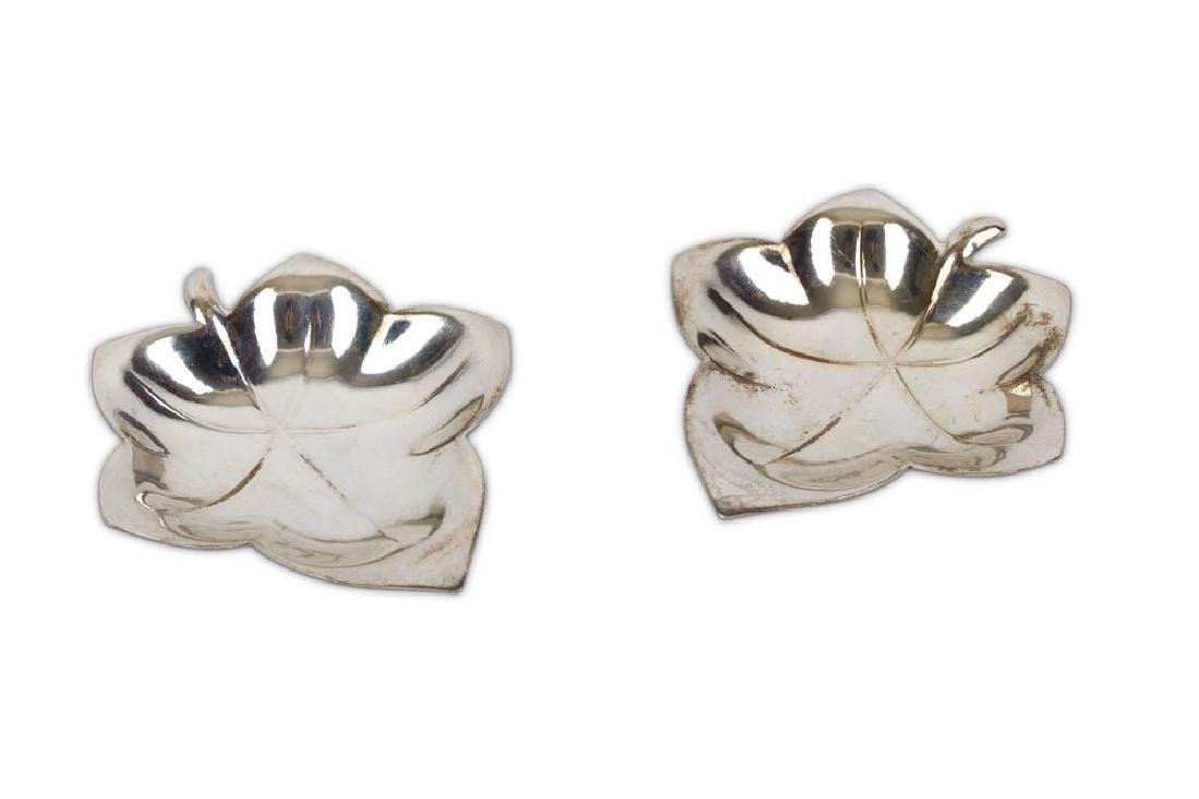 A pair of Tiffany & Co sterling silver dishes in the