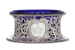 A late 19th century German sterling silver dish ring