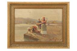 G Chighery Italian Washerwomen on the Isle of El