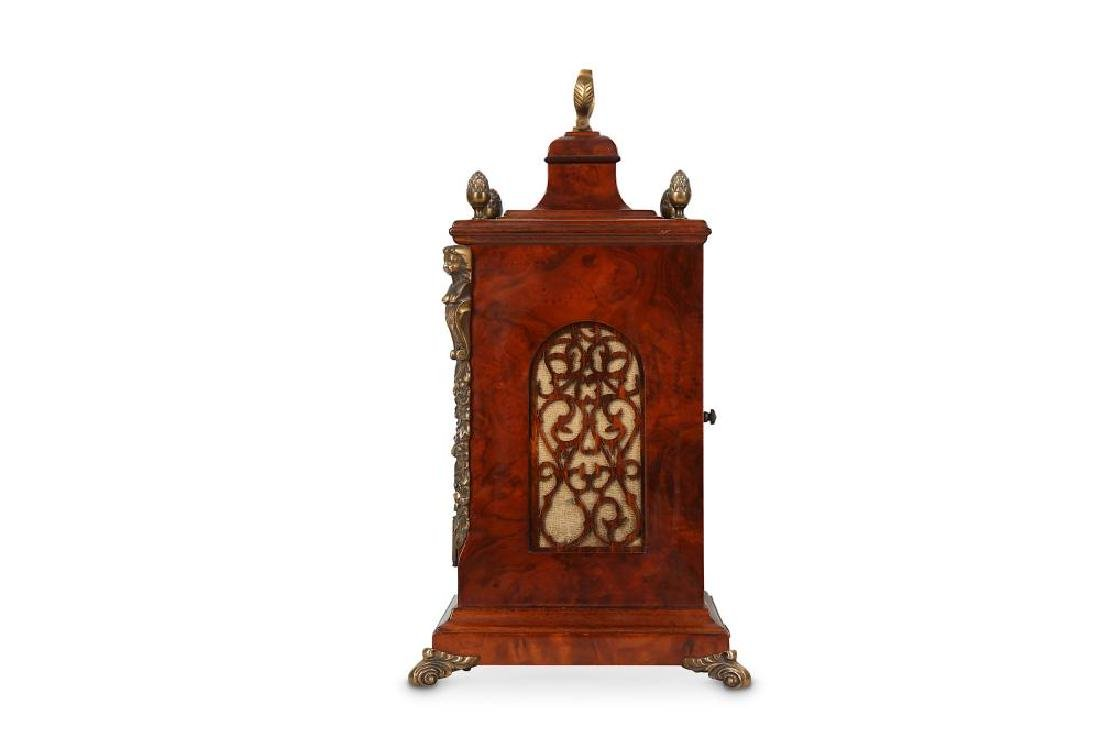 A GEORGE III STYLE BURR WALNUT AND BRASS MOUNTED TABLE - 2