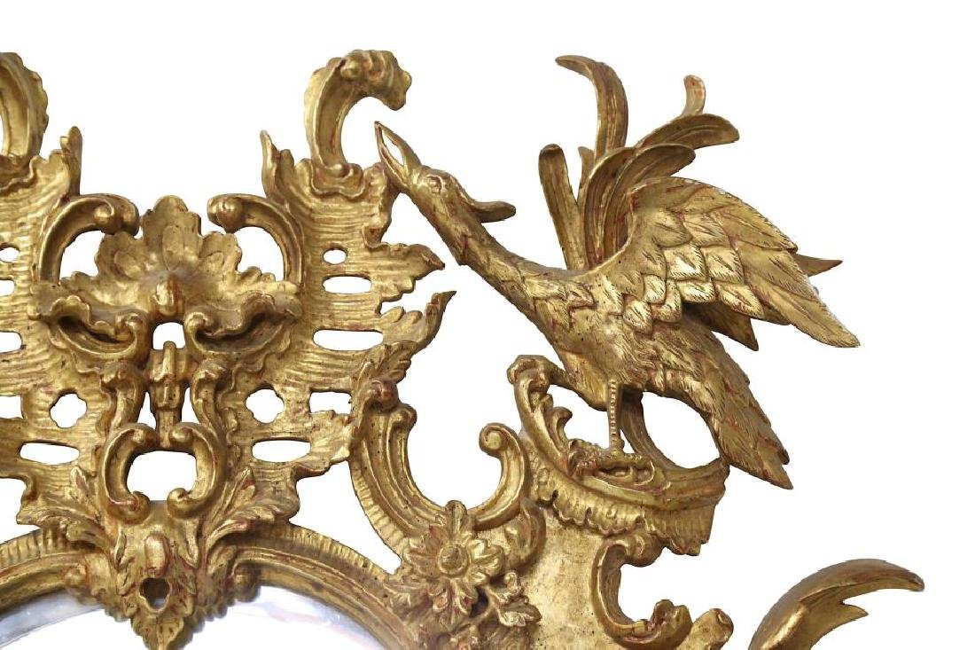 AN 18TH CENTURY STYLE ROCOCO GILTWOOD MIRROR - 2
