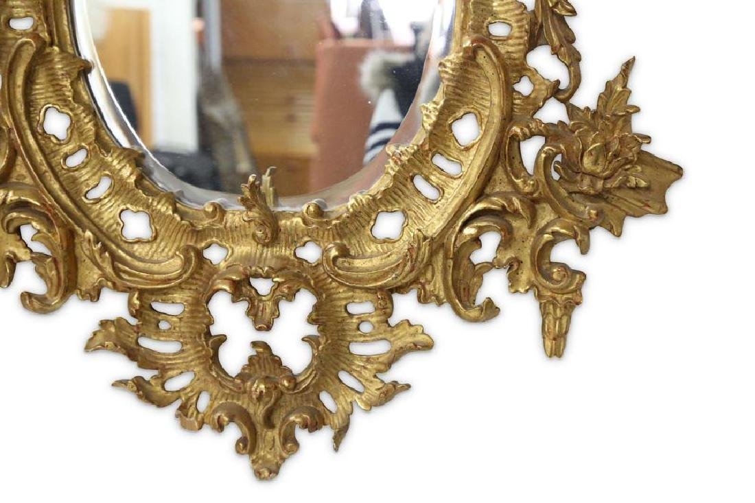 AN 18TH CENTURY STYLE ROCOCO GILTWOOD MIRROR - 3