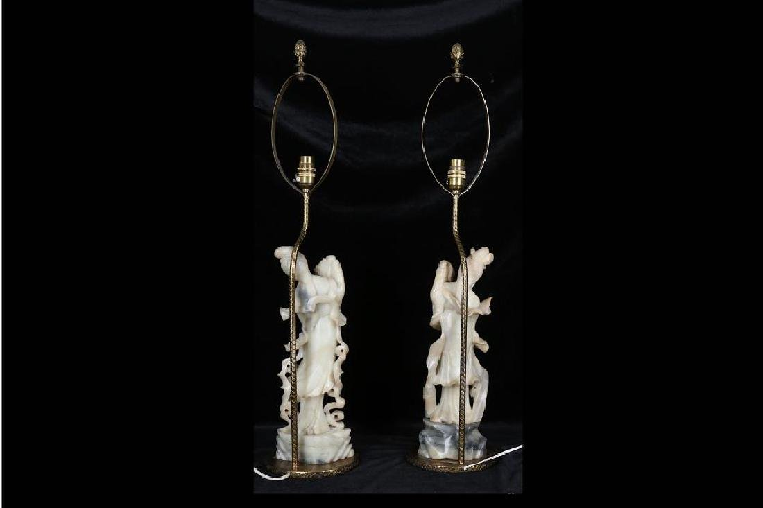 A PAIR OF LATE 19TH / 20TH CENTURY CHINESE CARVED - 3