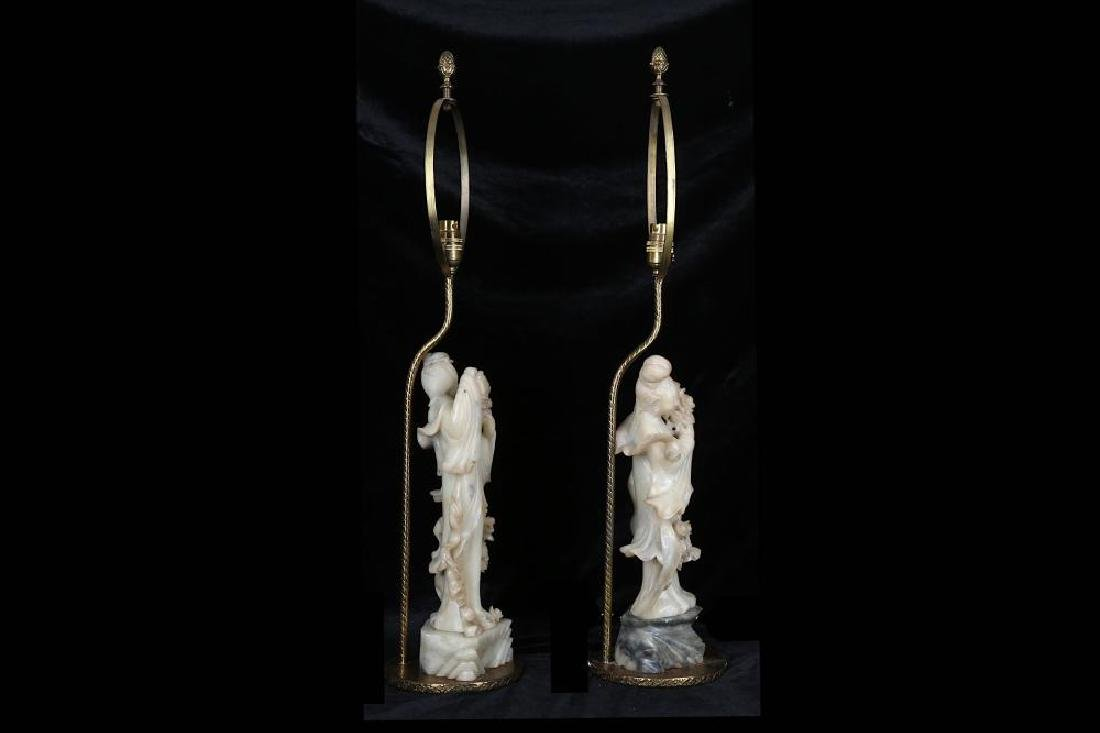 A PAIR OF LATE 19TH / 20TH CENTURY CHINESE CARVED - 4