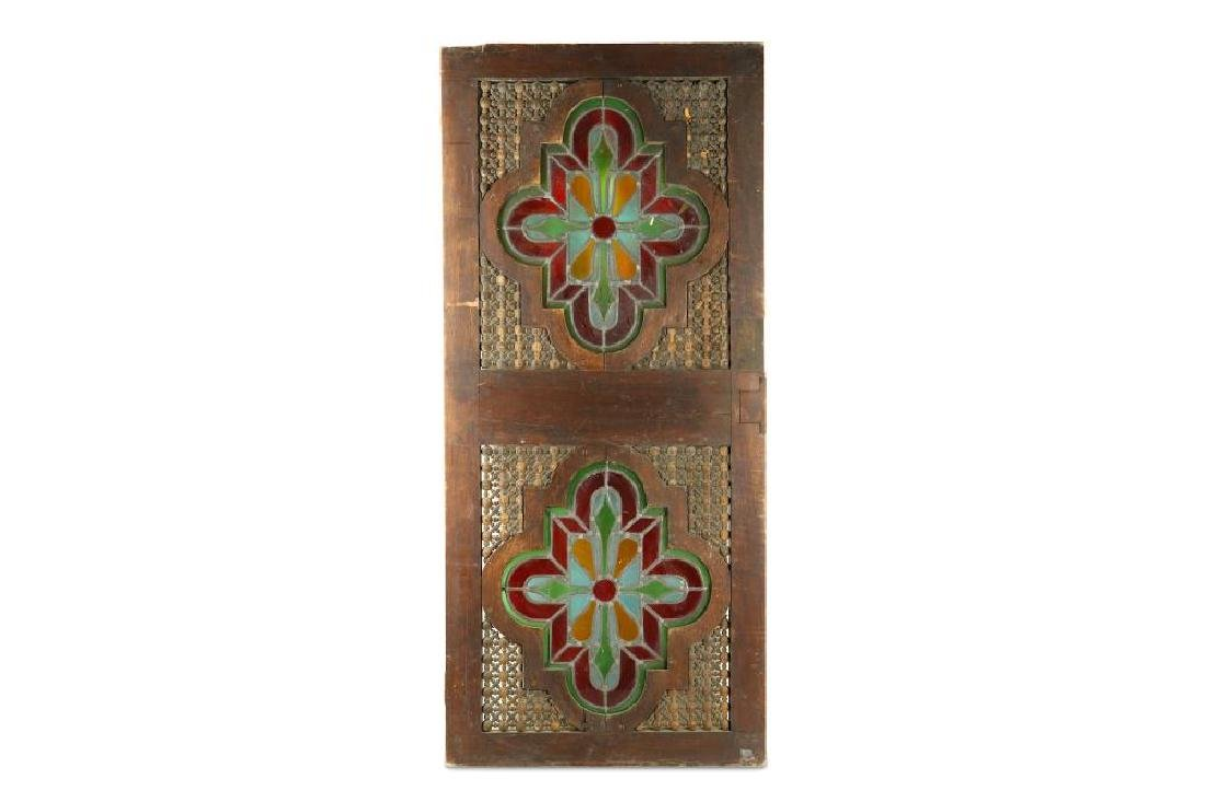 A STAINED GLASS WINDOW SHUTTER WITH WOODEN FRAME - 3