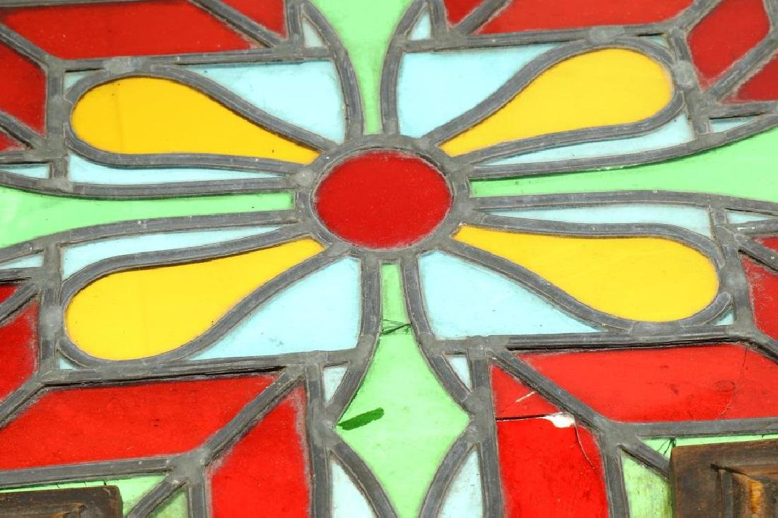 A STAINED GLASS WINDOW SHUTTER WITH WOODEN FRAME - 4