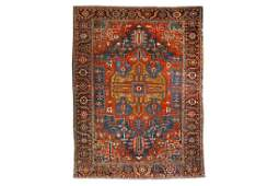 AN ANTIQUE HERIZ CARPET, NORTH-WEST PERSIA approx: