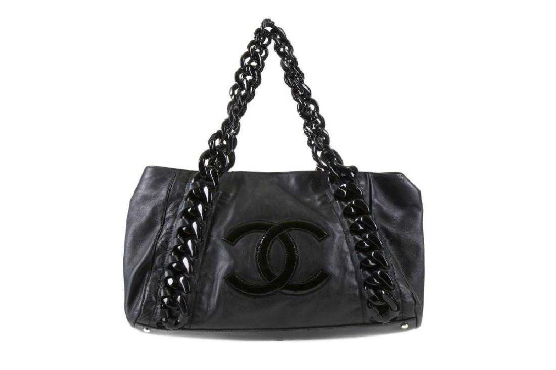 5a522580efee80 Chanel Black Rhodoid Modern Chain East West Shoulder