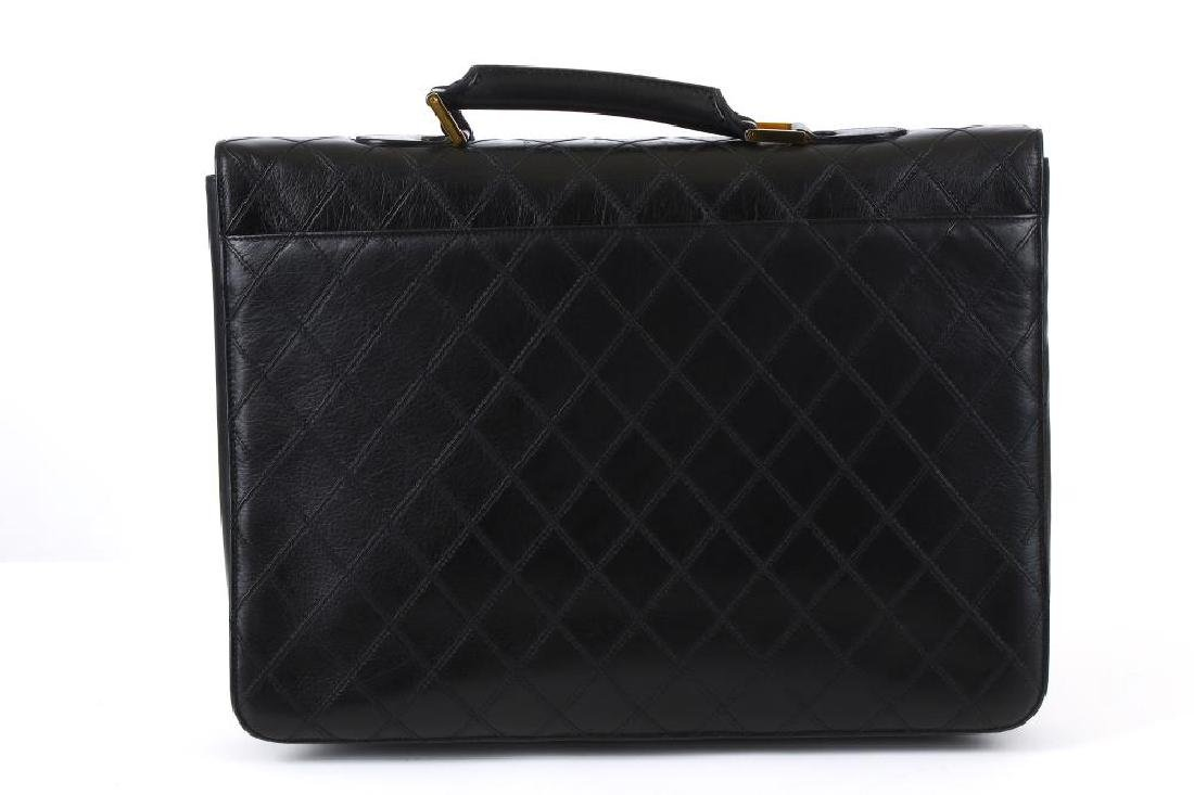 Chanel Black Briefcase Bag, c. 1989-91, quilted leather - 4