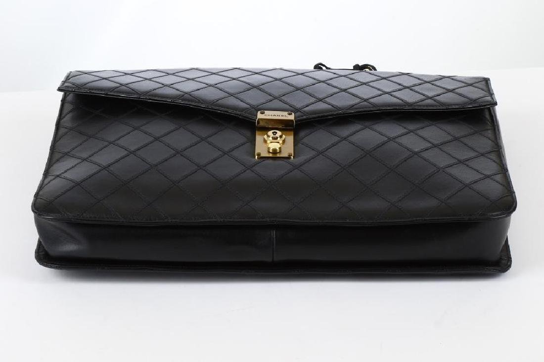 Chanel Black Briefcase Bag, c. 1989-91, quilted leather - 5