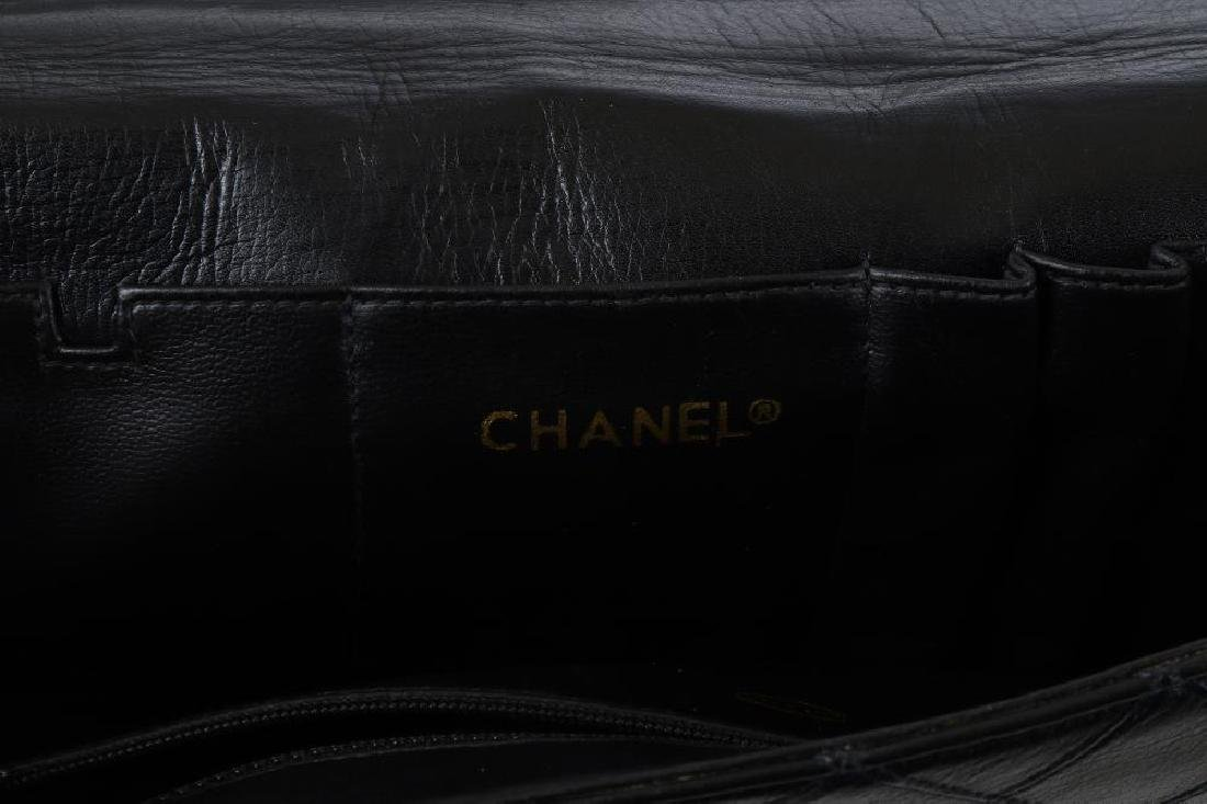 Chanel Black Briefcase Bag, c. 1989-91, quilted leather - 6