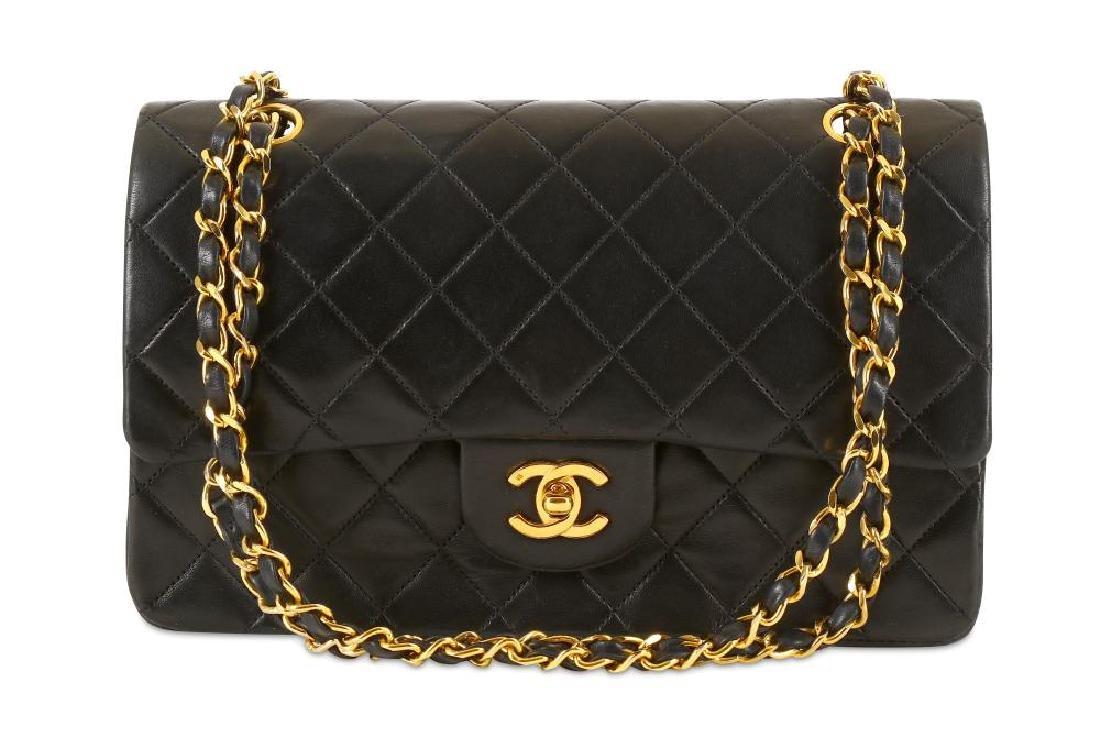 Chanel Black Classic 2.55 Double Flap Bag, c. 1986-88,