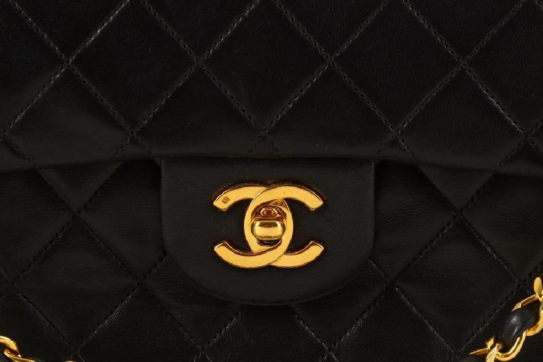 Chanel Black Classic 2.55 Double Flap Bag, c. 1986-88, - 3